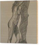 Standing Nude 1 Wood Print