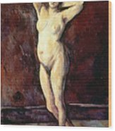 Standing Nude Woman Wood Print