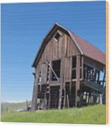 Standing Old Wooden Barn  Wood Print