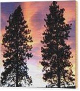 Standing Tall At Sundown Wood Print