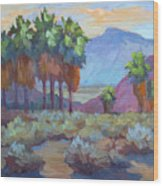 Standing Tall At Thousand Palms Wood Print