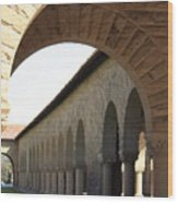 Stanford Memorial Court Arches I Wood Print