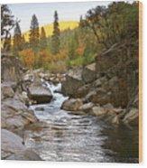 Stanislaus Fall Sunset Looking East Wood Print