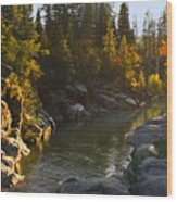 Stanislaus Sunset Larry Darnell Wood Print