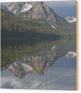 Stanley Lake Reflections Wood Print