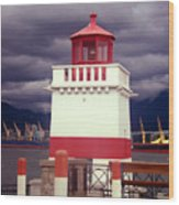 Stanley Park Lighthouse Wood Print