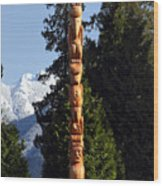 Stanley Park Totem Pole Vancouver Wood Print