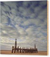 St.annes Beach, Lancashire, England Wood Print