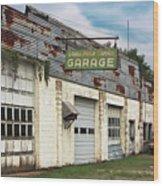 Stans Motor Service Garage Wood Print