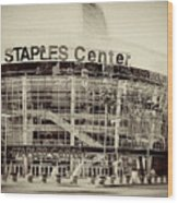 Staples Center Wood Print by Ariane Moshayedi