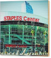 Staples Center Color Wood Print