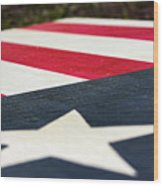 Star And Stripes Wood Print