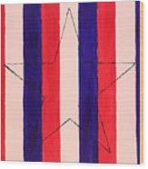 Star And Stripes Wood Print