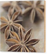 Star Anise  Wood Print