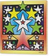 Star Wood Print