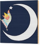 Star Bird Wood Print