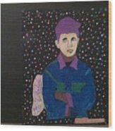 Star Boy Wood Print