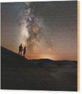 Star Crossed Lovers At Night Wood Print