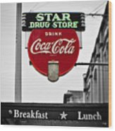 Star Drug Store Wood Print