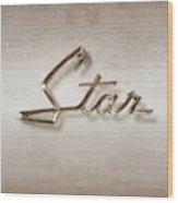 Star Emblem Wood Print