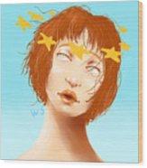 Star Eyed Wood Print