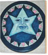 Star Face Lazy Susan Wood Print