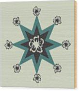 Star Flower - The Light Side Wood Print