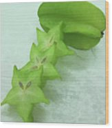 Star Fruit Is Content Of Vitamin A And C Wood Print