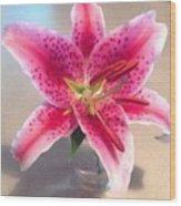 Star Gaze Lilly Wood Print