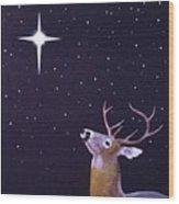Star Gazer Wood Print