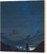 Star Gazing Wood Print