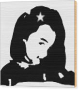 Star Girl Wood Print