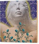 Star Goddess Wood Print