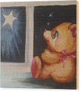 Star Light Bear Wood Print