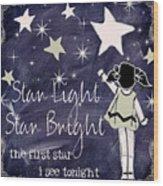 Star Light Star Bright Chalk Board Nursery Rhyme Wood Print