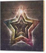 Star Lights Wood Print