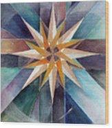 Star Mandala 2  Wood Print