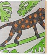 Star. Monkey  Wood Print