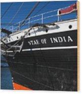 Star Of India Tall Ship San Diego Bay Wood Print