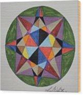 Star Of Judia Wood Print