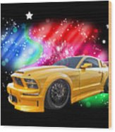 Star Of The Show - Mustang Gtr Wood Print