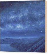 Star Path Wood Print