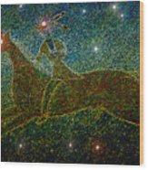 Star Rider Wood Print by David Lee Thompson
