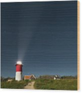 Star Search Wood Print