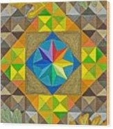 Star Series Four Wood Print