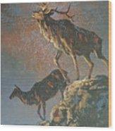 Star Spangled Bugle Wood Print