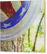 Star Spangled Hat Wood Print