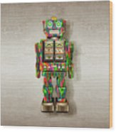 Star Strider Robot Psyc Wood Print
