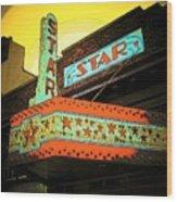 Star Theater Wood Print