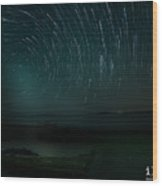 Star-trail_1 Wood Print